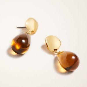 Warm Honey Glass Drop Earrings
